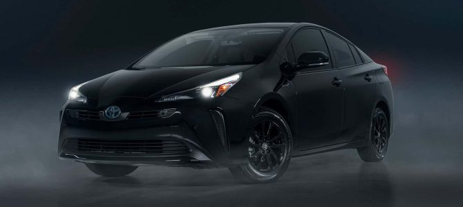 Toyota's Latest Weird Appearance Package Is A Fully Blacked-Out Prius